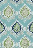 Thibaut Midland Wallpaper in Blue and Green